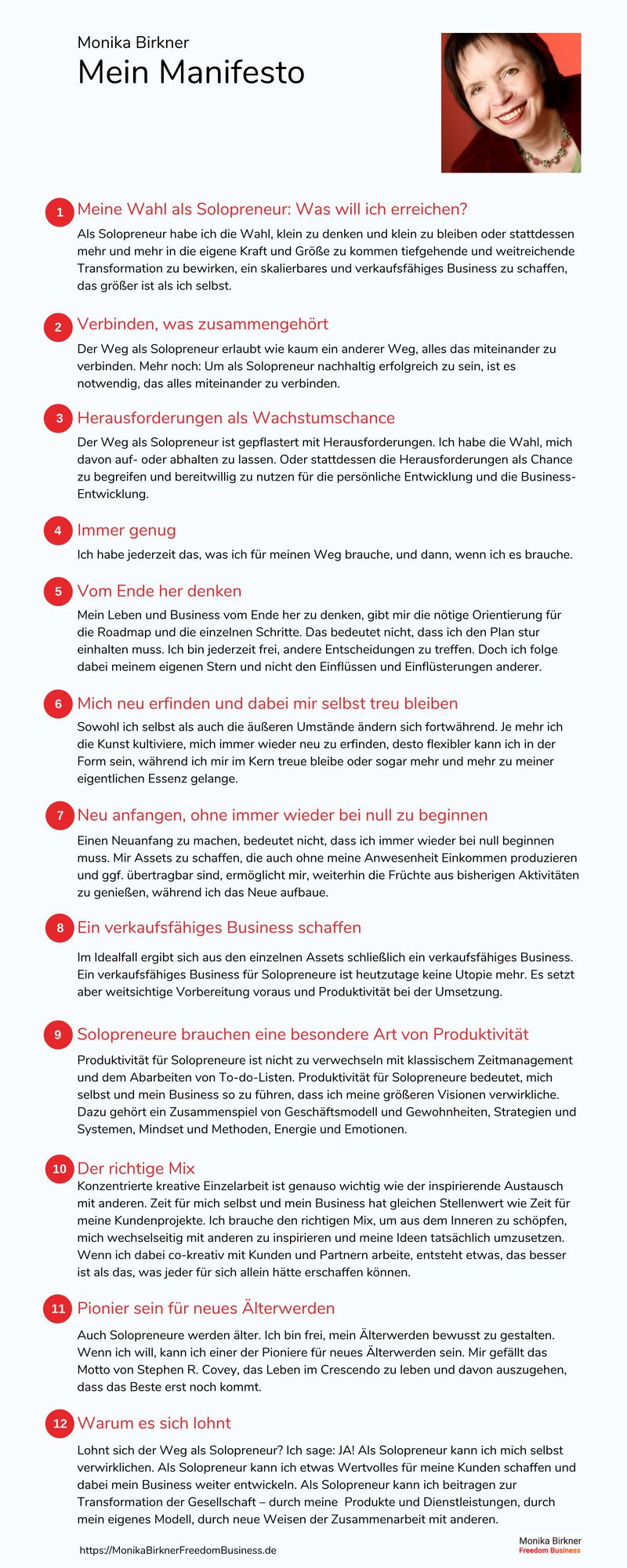Monika Birkner Manifesto