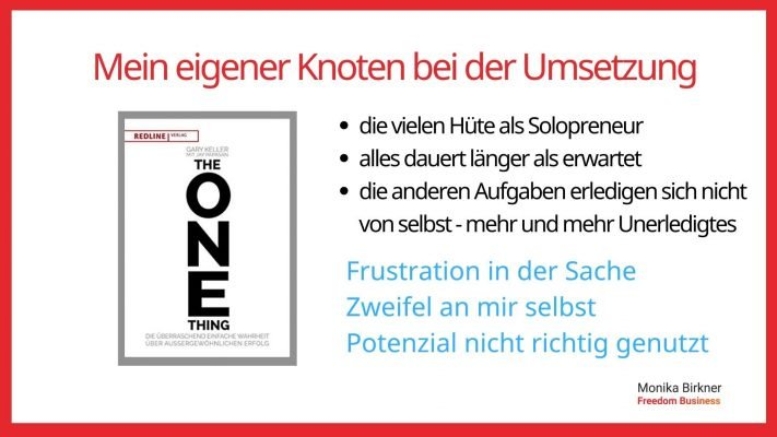 Monika Birkner The One Thing
