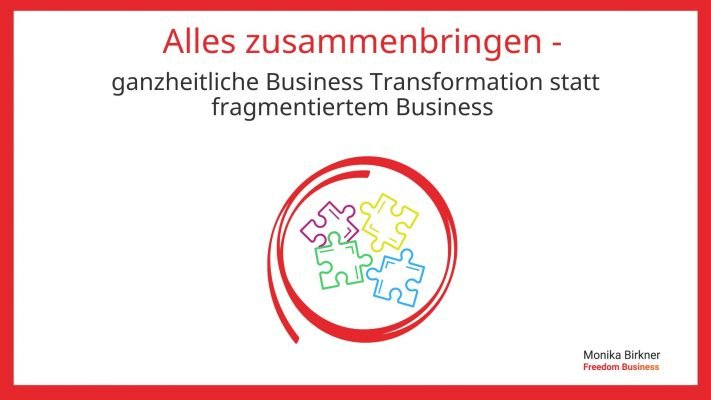 Monika Birkner: Total Business Transformation als ganzheitlicher Ansatz