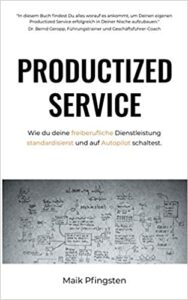 """Buchcover: Maik Pfingsten """"Productized Service"""""""